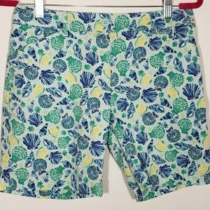 Talbots shorts seashell print Size 6